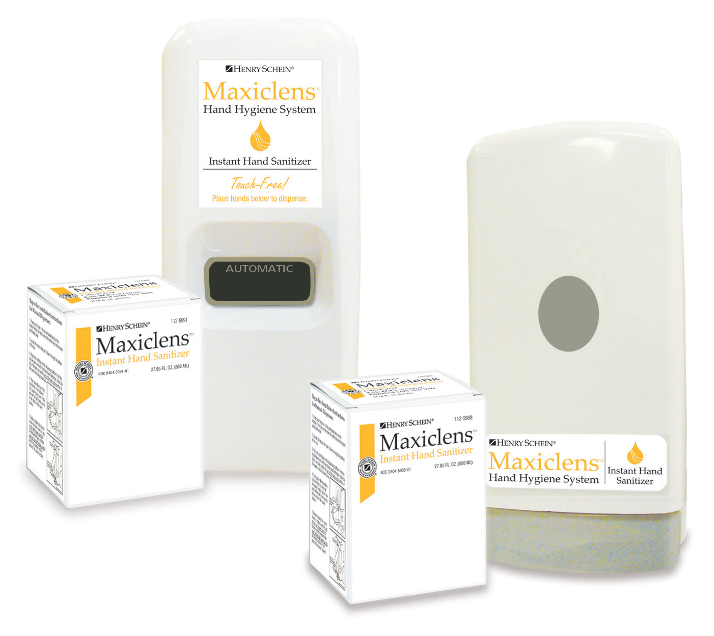 Maxiclens Instant Hand Sanitizer and Dispensers