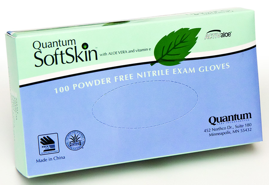 SoftSkin Hint of Mint Nitrile Exam Gloves