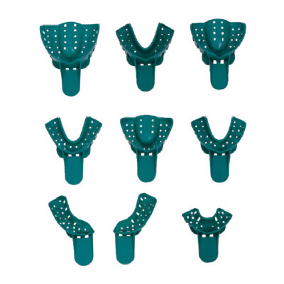 Green Disposable Impression Trays