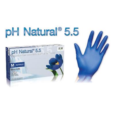 PH NATURAL 5.5 POWDER-FREE EXAM GLOVES