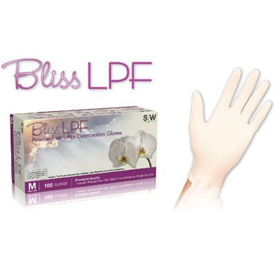 BLISS LPF POWDERFREE LATEX EXAM GLOVES