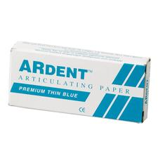 Articulating & Occlusal Indicators > Articulating Paper > Ardent Articulating Paper - Extra Thin, 63 Microns, 10 Strips/Book, 14 Books/Box, Blue