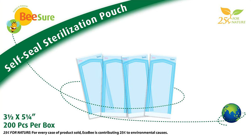 BeeSure Self-Seal Sterilization Pouch