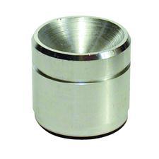 Amalgam Well, Chrome-Plated Brass