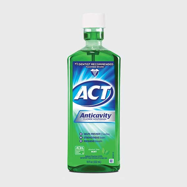 ACT® Alcohol Free Anticavity Fluoride Rinse, Mint - 18 oz