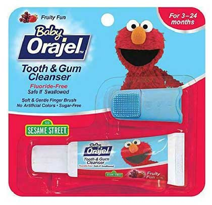 Baby Orajel™ Elmo Tooth & Gum Cleanser with Finger Brush