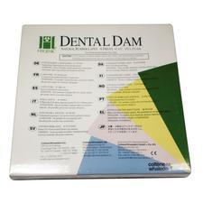 Hygenic Latex Dental Dam - Adults, Ready Cut, 6