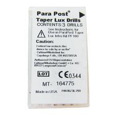 ParaPost® Taper Lux Translucent Esthetic Post System - Drills, 3/Pkg - Blue/Black, Size 0.045
