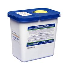 SharpSafety Pharmaceutical Waste Container- Gasketed Hinged Lid, 2 Gallon