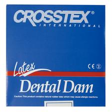 Latex Dental Dam- Unflavored, Blue, 6