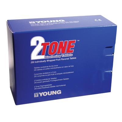 2 Tone Disclosing Agent - Tablets, 250/Pkg