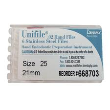 Unifiles Stainless Steel Hand Files - 21 mm, 6/Pkg - 10