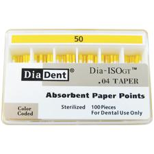 Dia-ISO GTAbsorbent Paper Points - 0 04 Taper, ISO-GT, 100/Pkg