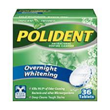 Polident Overnight Whitening, 36/Pkg