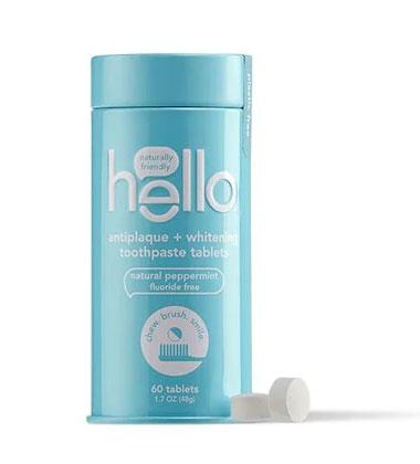 Hello® Antiplaque + Whitening Toothpaste Tablets