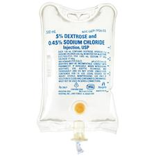 IV Solution Dextrose 5% and 0.45% Sodium Chloride Injection USP- 500 ml Container