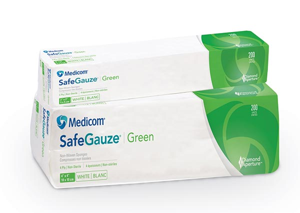 SafeGauze Green Nonwoven Gauze Sponges
