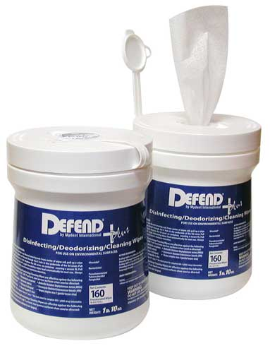 DEFEND+Plus Wipes Hard-Surface Disinfecting Wipes