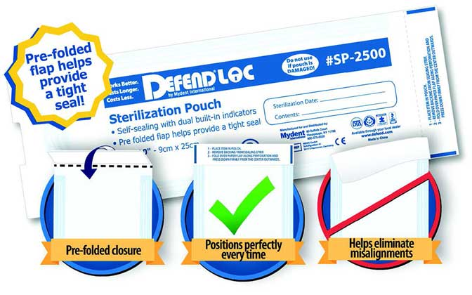 DEFENDLOC PRE-FOLDED Sterilization Pouches