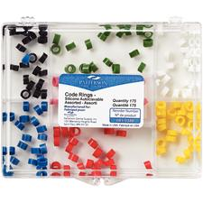 Patterson® Code Rings- 175/:Pkg, Assorted Colors