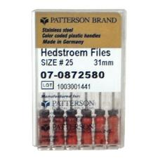 Patterson Hedstrom Files - 31 mm, 0.02 Taper, 6/Pkg - Assorted Colors Sizes 15-40