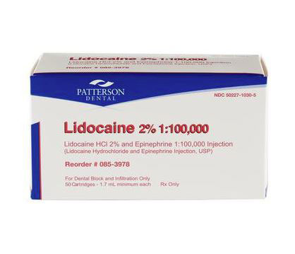 Patterson® Lidocaine Anesthetic HCl 2% with Epinephrine