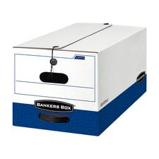 Fellowes Banker's Box Liberty Storage Box, White/Blue, Letter Size, 12/Ctn - Box