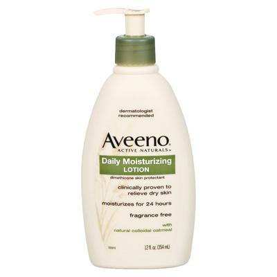 Aveeno Daily Moisturizing Lotion, Pump Bottle, 12 oz - Aveeno Lotion