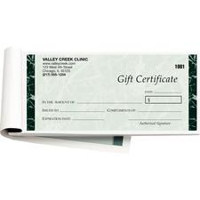 Gift Certificates, 2 Part, 50 Sets/:Bk; 2 Bks/:Pkg - Antique