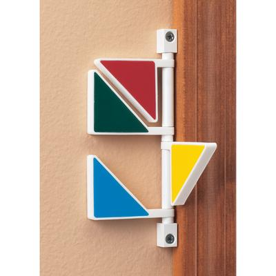 Decorator Exam Room Signals, Contemporary Colors, 4 Flags/Sign - Forest Green, Beige, Blueberry, Gray