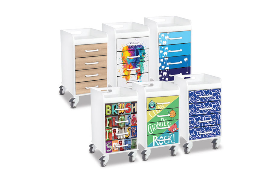 New Designs for Four-Drawer Locking Cart