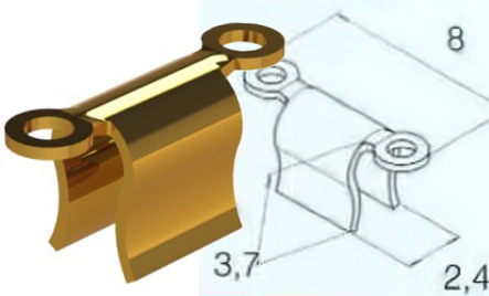 Ackermann MD Clip GOLD