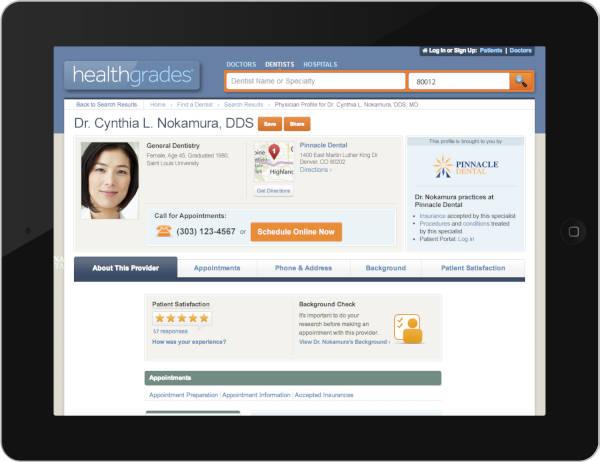 Healthgrades Enhanced Profiles from Sesame