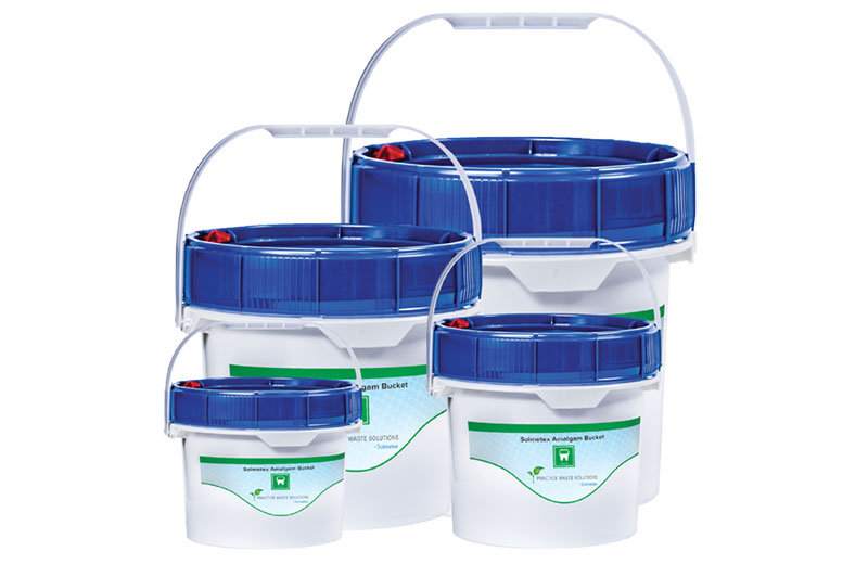 Solmetex Practice Waste Solutions Amalgam Bucket