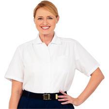 Fashion Seal Healthcare Short Sleeve Oxford Blouse