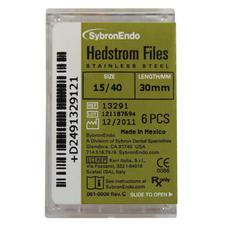 Hedstrom Files - Plastic Handle, Stainless Steel, 30 mm, 6/Pkg