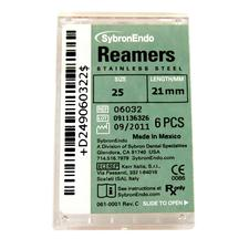 Reamers - Plastic Handle, Standard Color Coded 08-40, 21 mm, 6/Pkg